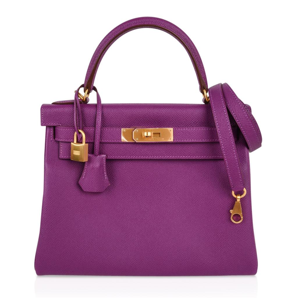 ... authentic hermes kelly 28 bag hss anemone pink retourne epsom brushed  gold for sale at 1stdibs cdf41141e25e6