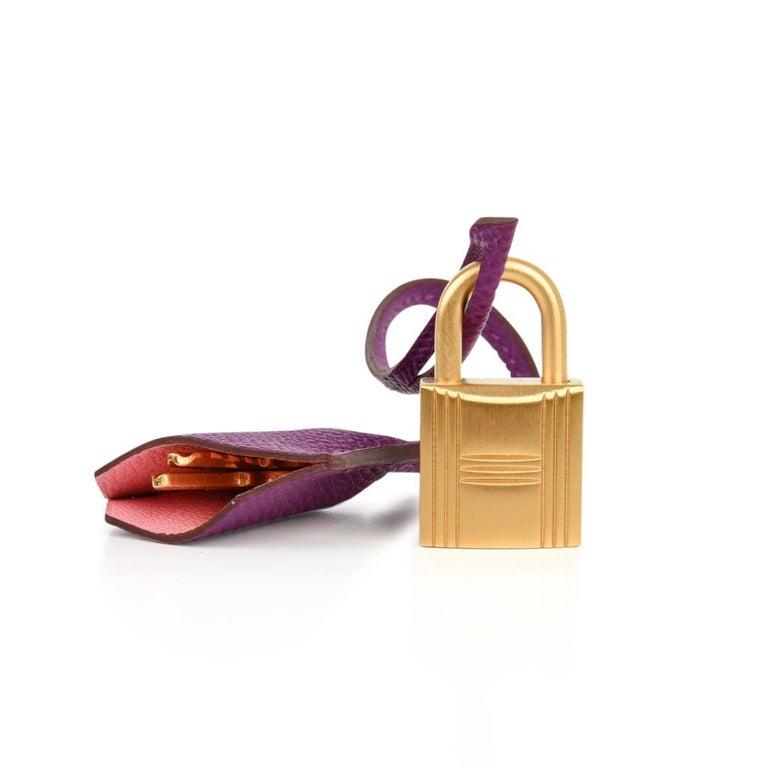 0815397f19 Hermes Kelly 28 Bag HSS Anemone Pink Retourne Epsom Brushed Gold For Sale 1