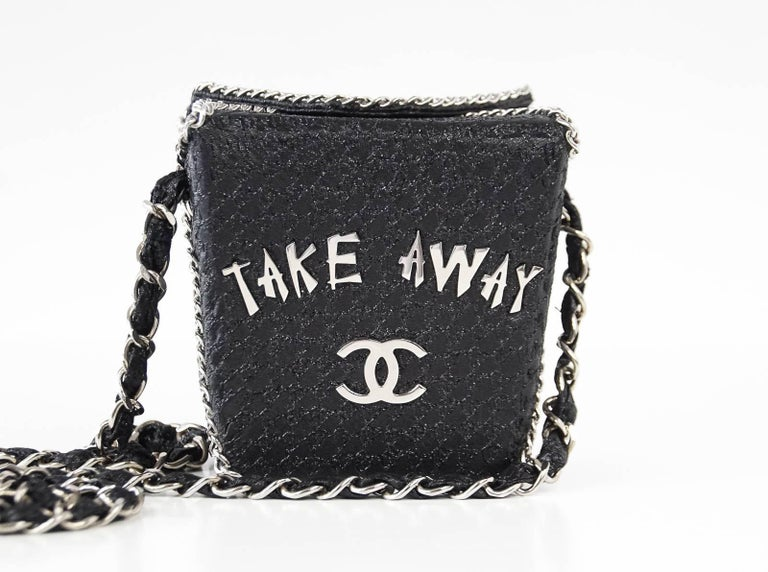 Guaranteed Authentic Chanel Very Rare Take Away Box Bag From The Coveted Shanghai Collection