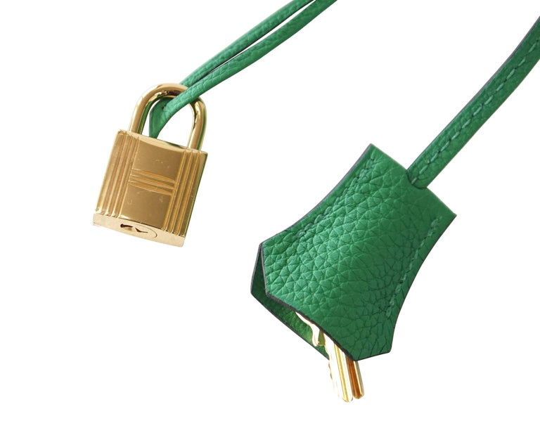 Hermes Birkin 35 Bamboo Green Togo Gold Hardware In New Condition For Sale  In Miami 2c369995d0a7d