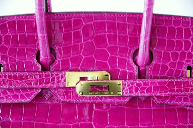 Hermes Birkin 35 Bag Scherezade Porosus Crocodile Gold Hardware  2