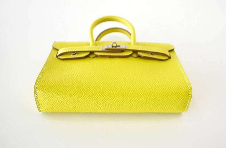 Hermes Birkin Bag Tiny Miniature Micro Lime Limited Edition  rare For Sale 1