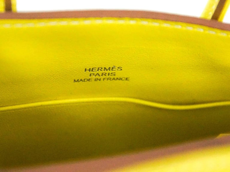 Hermes Birkin Bag Tiny Miniature Micro Lime Limited Edition  rare For Sale 2