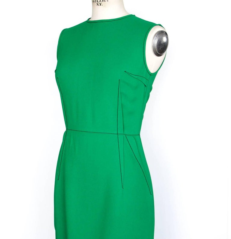 Women's or Men's Lanvin Dress Green Stitch Detail Exceptionally Styled  36 / 4 For Sale