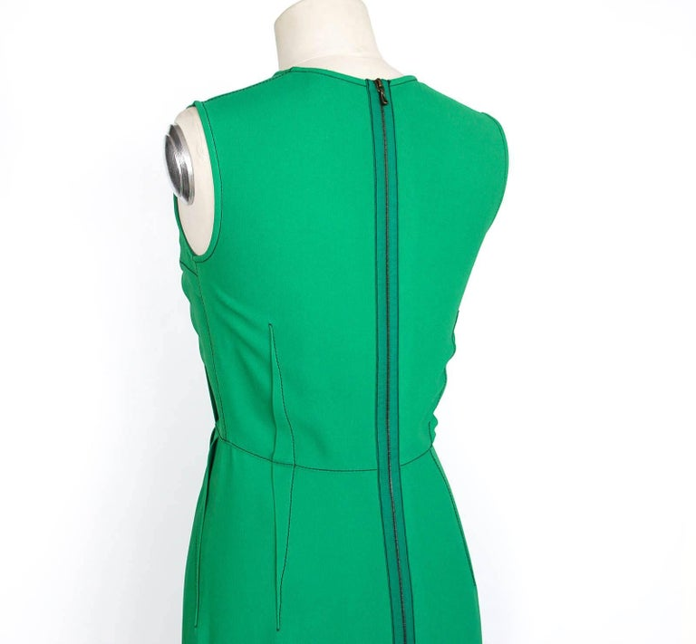 Lanvin Dress Green Stitch Detail Exceptionally Styled  36 / 4 For Sale 1