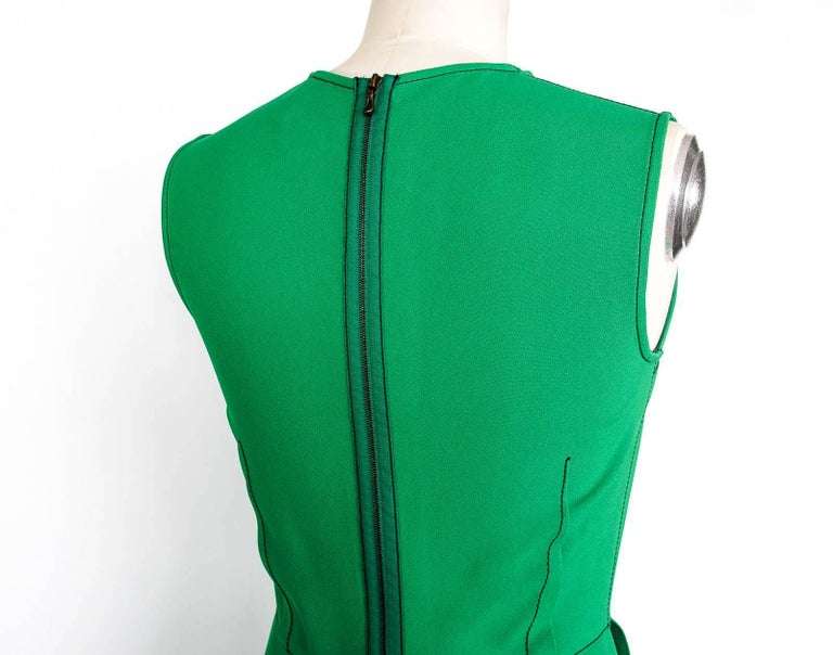 Lanvin Dress Green Stitch Detail Exceptionally Styled  36 / 4 For Sale 2