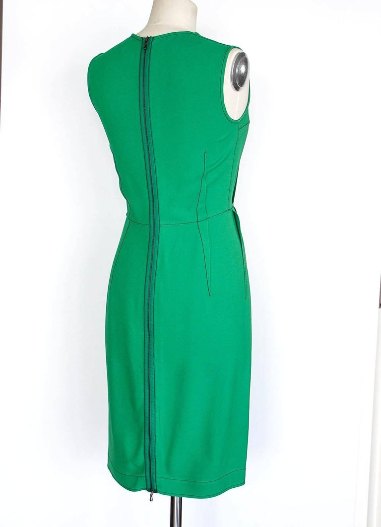 Lanvin Dress Green Stitch Detail Exceptionally Styled  36 / 4 For Sale 3