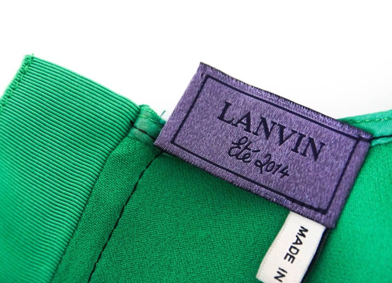 Lanvin Dress Green Stitch Detail Exceptionally Styled  36 / 4 For Sale 4