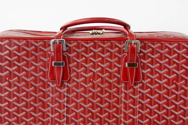 Goyard Suitcase Soft Red Signature Monogram Majordome 50 Palladium Fittings 2
