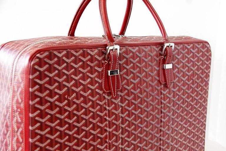 Goyard Suitcase Soft Red Signature Monogram Majordome 50 Palladium Fittings 3