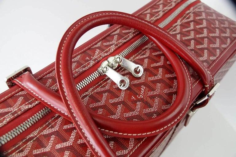 Goyard Suitcase Soft Red Signature Monogram Majordome 50 Palladium Fittings 4