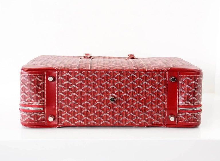 Goyard Suitcase Soft Red Signature Monogram Majordome 50 Palladium Fittings 7