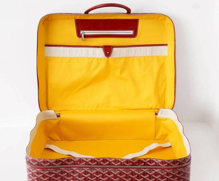 Goyard Suitcase Soft Red Signature Monogram Majordome 50 Palladium Fittings 8