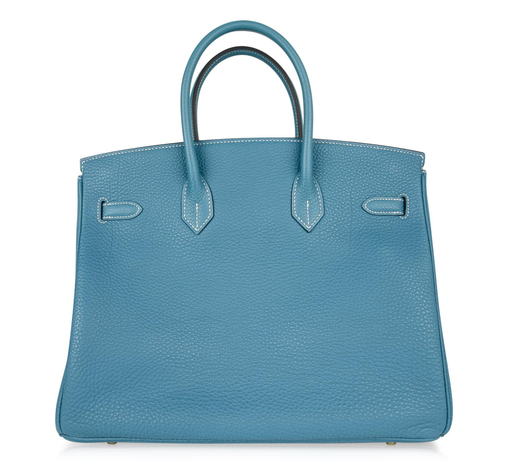b48844d3f37d Hermes Birkin 35 Bag Iconic Blue Jean Togo Gold Hardware Rare For Sale at  1stdibs