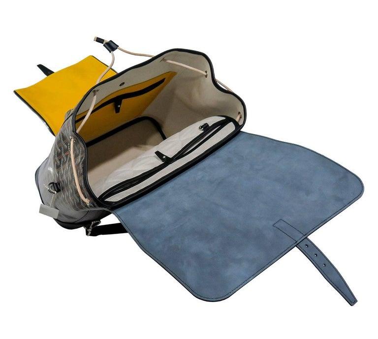 Goyard Alpin Backpack Black Chevron and Calfskin For Sale 2