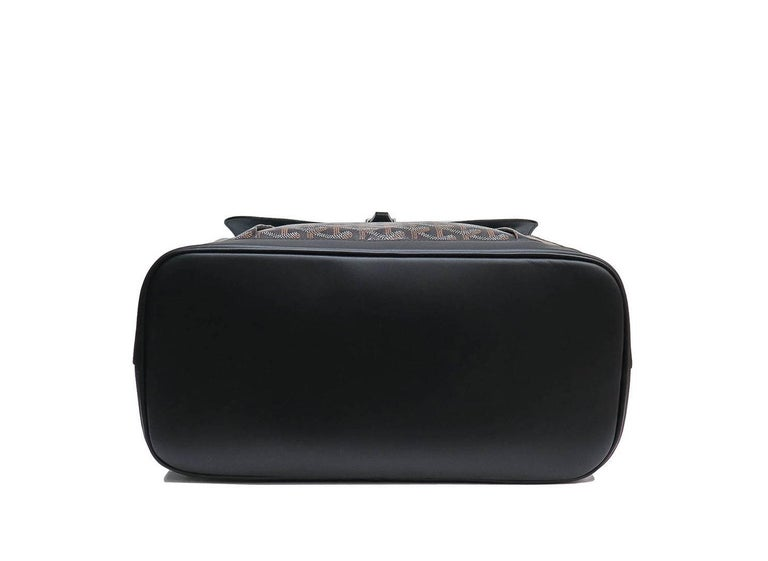 Goyard Alpin Backpack Black Chevron and Calfskin For Sale 5