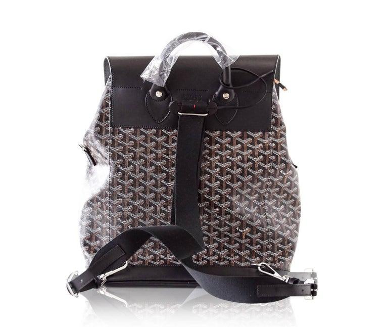 Goyard Alpin Backpack Black Chevron and Calfskin For Sale 6