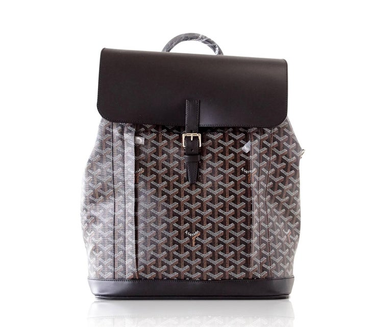 Goyard Alpin Backpack Black Chevron and Calfskin For Sale 3