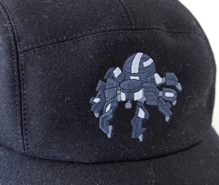 69894cbd078 Hermes Hat Cashmere Spider Robot Limited Edition Black Cap 59 In New  Condition For Sale In