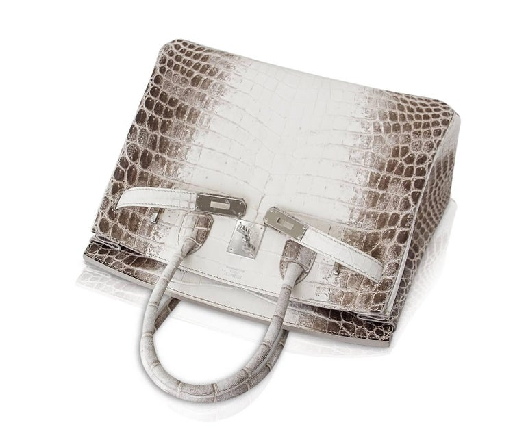 Hermes Birkin 30 Bag Exquisite Blanc Himalaya Palladium Hardware In New Condition For Sale In Miami, FL