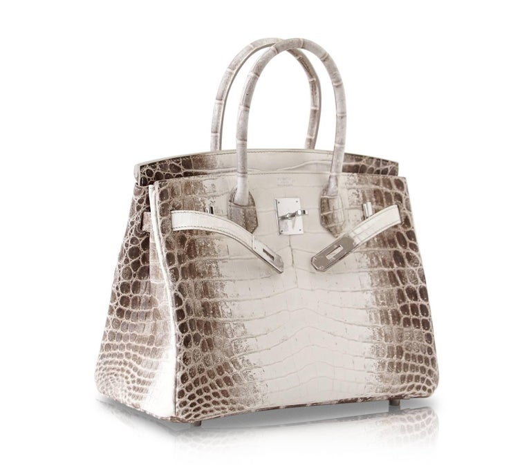 Hermes Birkin 30 Bag Exquisite Blanc Himalaya Palladium Hardware For Sale 1