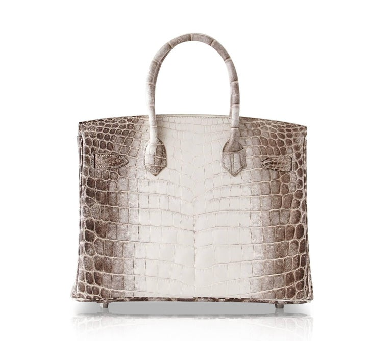 Hermes Birkin 30 Bag Exquisite Blanc Himalaya Palladium Hardware For Sale 2