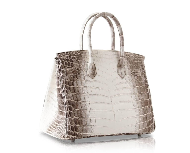 Hermes Birkin 30 Bag Exquisite Blanc Himalaya Palladium Hardware For Sale 3