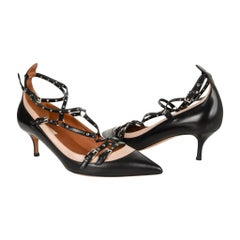 Valentino Shoe Bi Colour Caged Ankle Strap Pump  39 / 9