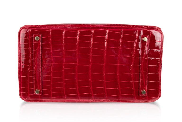 Hermes Braise Crocodile Gold Hardware Lipstick Red Birkin 35 Bag For Sale 6 3563fca42a