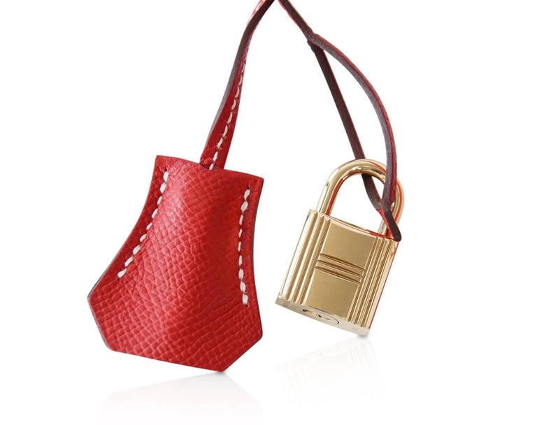 Hermes Rouge Casaque Candy Limited Edition Epsom Birkin 35 Bag  For Sale 5