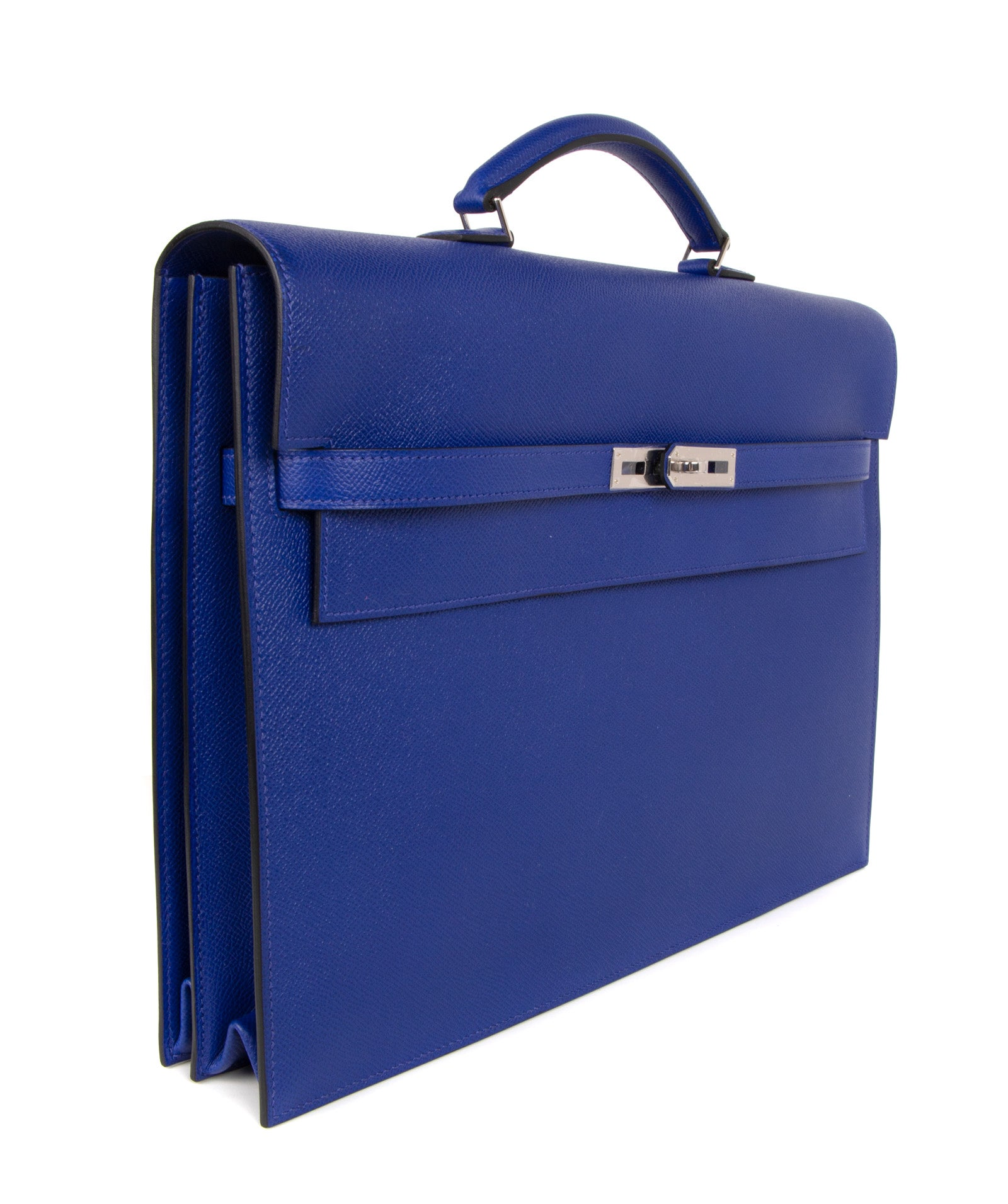 f49885f49820 Hermes Kelly Depeche 38 Briefcase Rare Electric Blue Palladium For Sale at  1stdibs