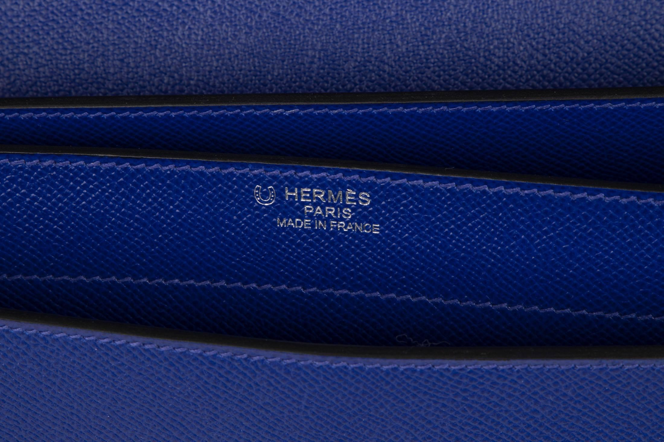 b4200973efa1 Hermes Kelly Depeche 38 Briefcase Rare Electric Blue Palladium For Sale at  1stdibs