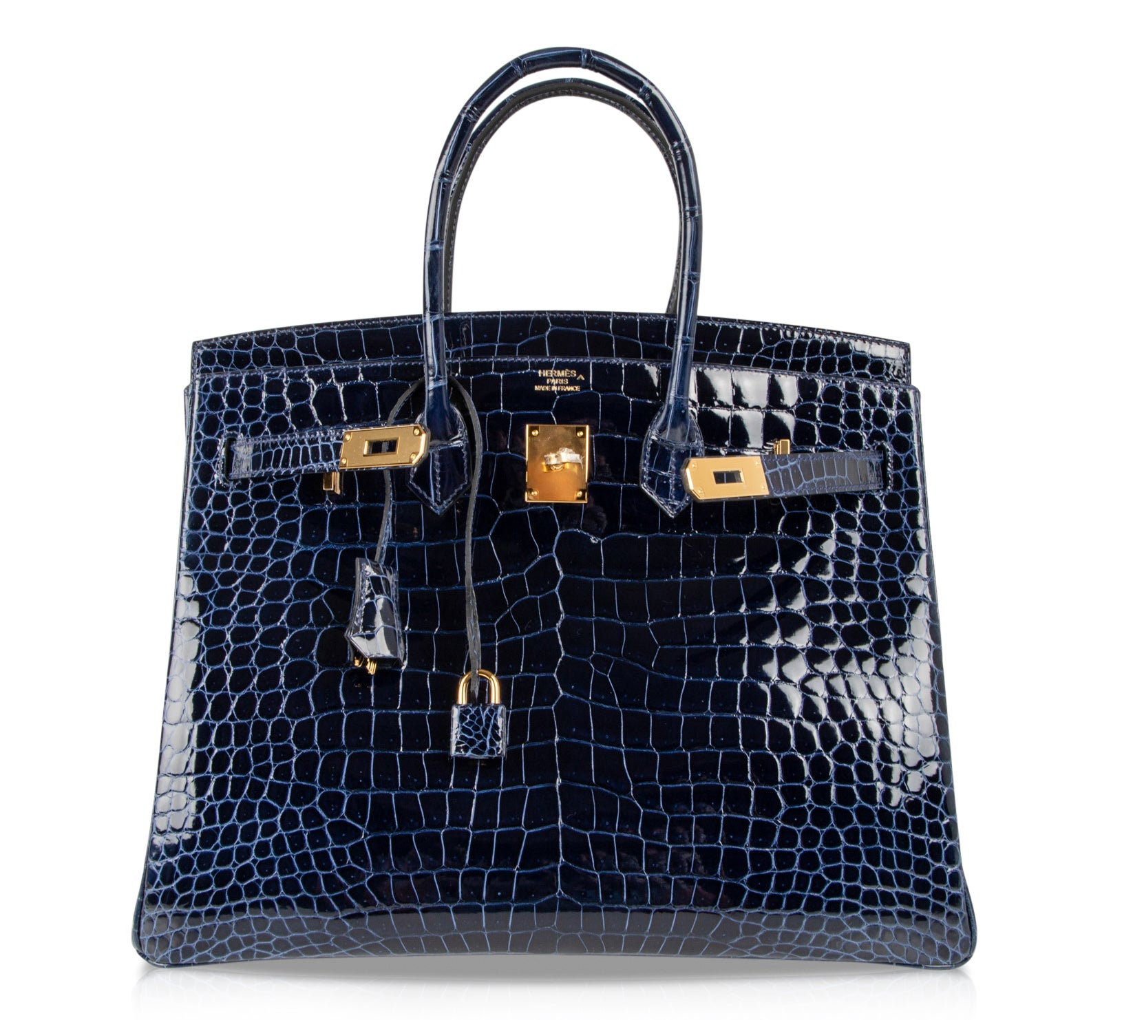 Hermes Birkin 35 Bag Blue Shire Porosus Crocodile Gold Hardware New For At 1stdibs
