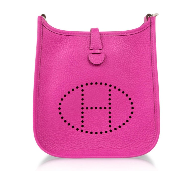 Hermes Evelyne Iii Tpm Bag Magnolia Pink Crossbody Clemence Palladium In New Condition For