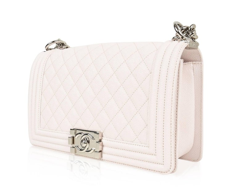 Chanel Bag White / Nude Quilted Caviar Medium 1