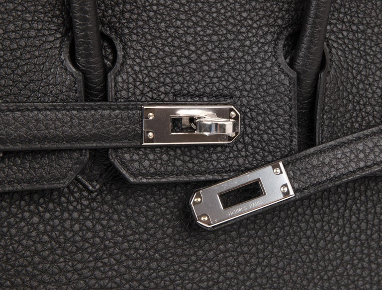 1615649a01 Guaranteed authentic Hermes Birkin 25 Black togo leather. Fresh with palladium  hardware this beauty is