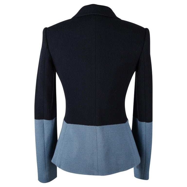 The Row Jacket Rich Navy and Slate Blue Single Breast 4  For Sale 4