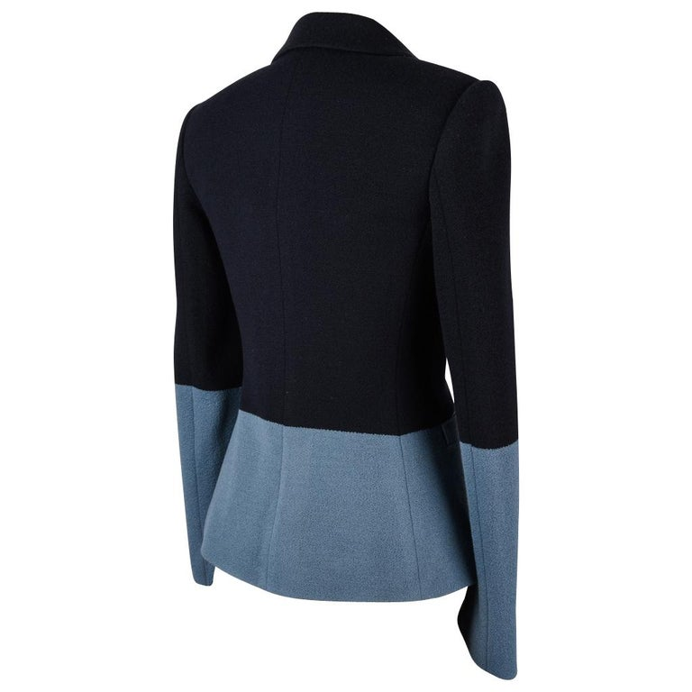 The Row Jacket Rich Navy and Slate Blue Single Breast 4  For Sale 2