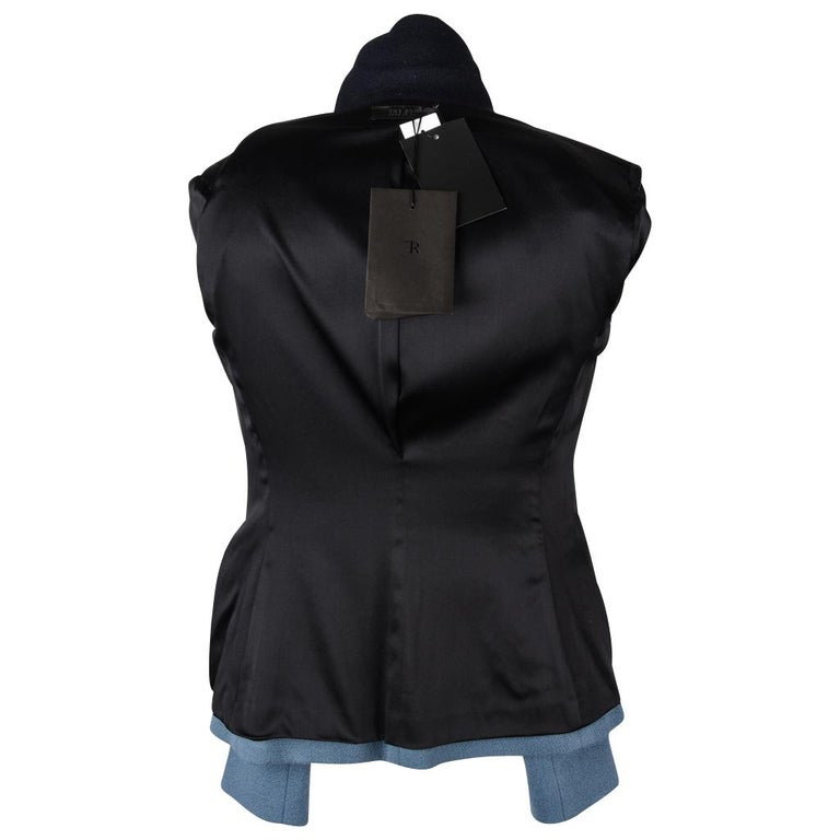 The Row Jacket Rich Navy and Slate Blue Single Breast 4  For Sale 5