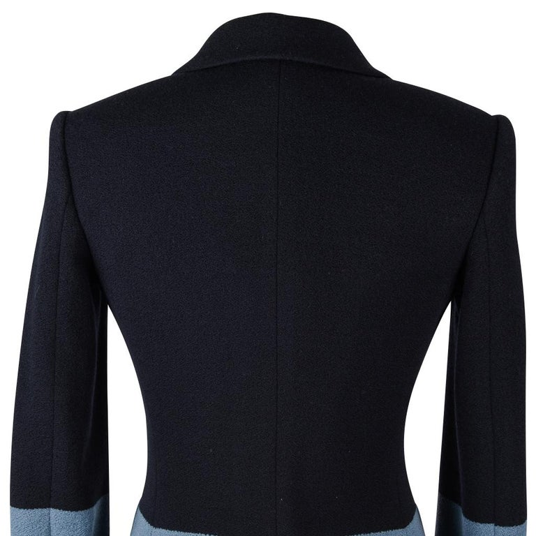 The Row Jacket Rich Navy and Slate Blue Single Breast 4  For Sale 3