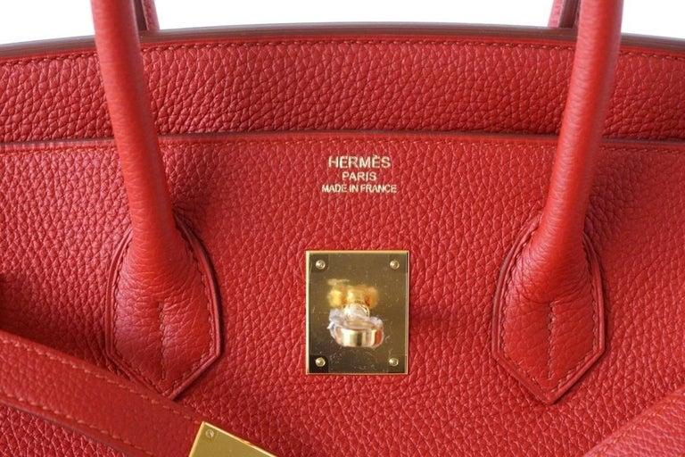 ff8597b16d910 Hermes Birkin 35 Rote Tasche Vermillion Togo mit Gold Hardware im ...