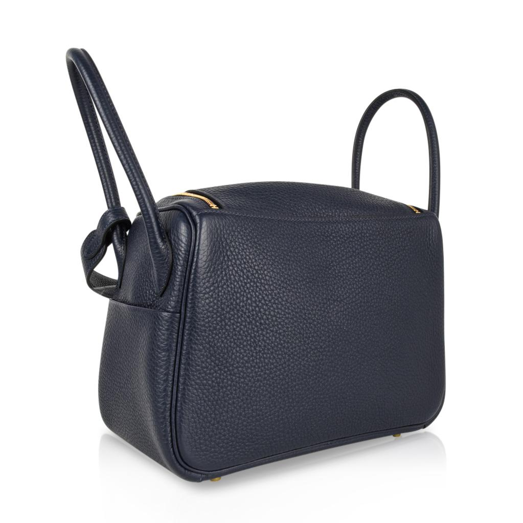 21c9d3064325 ... where can i buy hermes lindy 26 bag blue nuit clemence gold hardware  for sale at