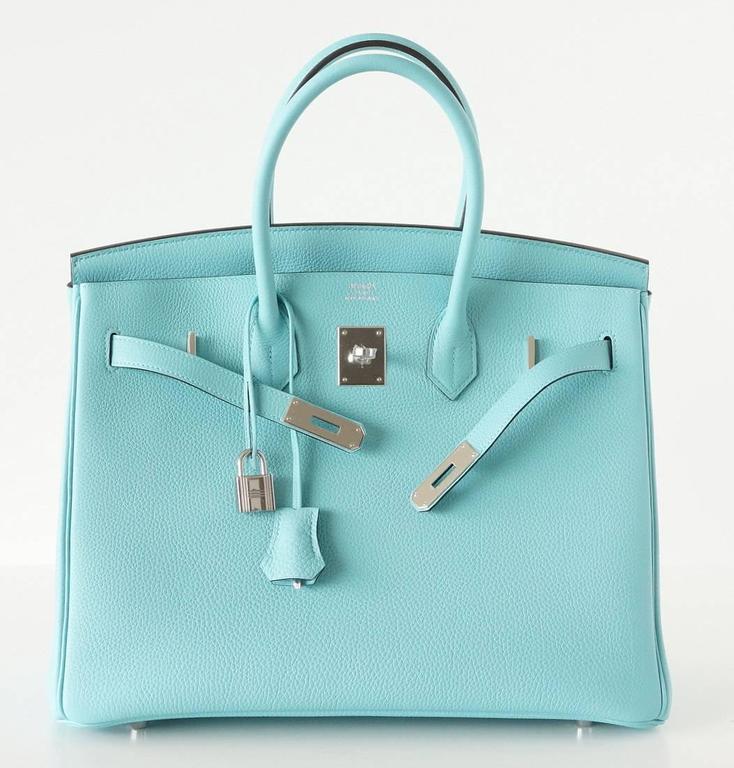 hermes birkin 35. hermes birkin 35 bag fresh blue atoll togo palladium 2 w