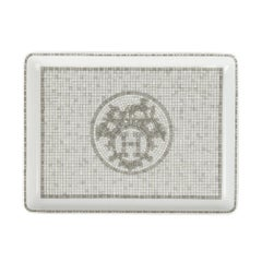 Hermes Sushi Plate Mosaique au 24 Platinum Small Model Porcelain