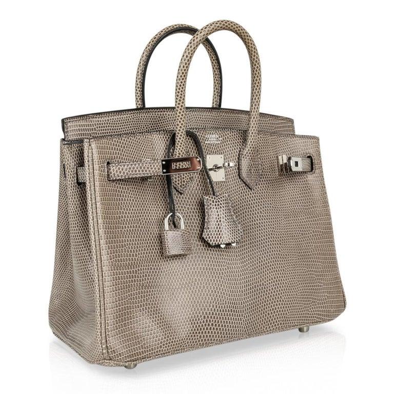 Hermes Birkin 25 Bag Gris Agate Lizard Palladium Hardware VERY Rare For Sale 2
