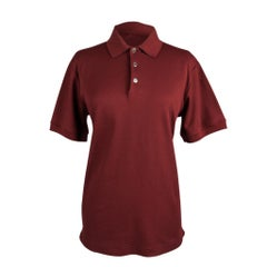 Hermes Men's Polo Style Rouge H w/ Navy Edging Short Sleeve XL