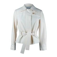 Yves Saint Laurent Jacket Winter White Felted Wool 34 / 4