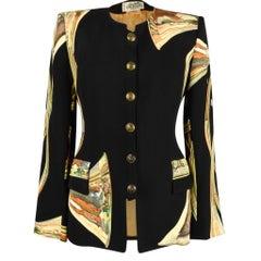 Hermes Jacket Trompes De Chasse Scarf Print Vintage 38 / 6