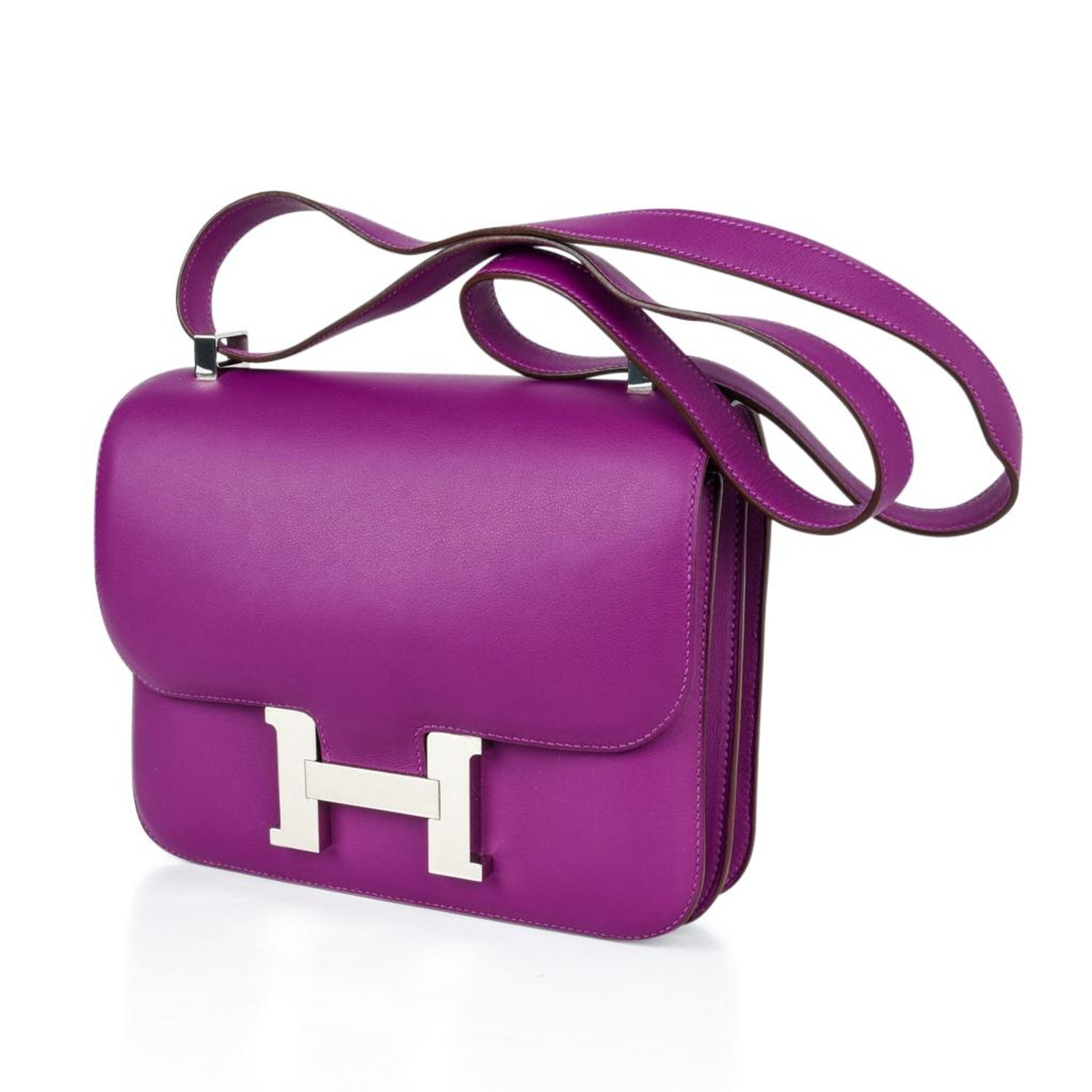 b68f15936 Hermes Constance Rare 24 Anemone Double Gusset Palladium For Sale at 1stdibs