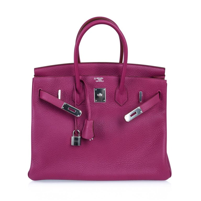 Hermes Tosca HSS Clemence Palladium Birkin 35 Bag  For Sale 4